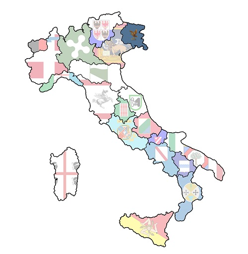 map of italy with lazio region