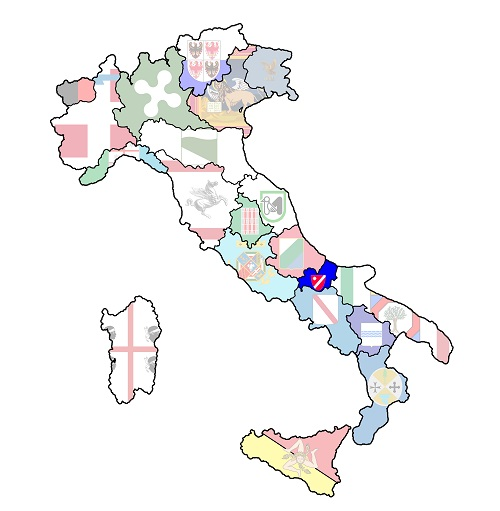 map of italy with molise region