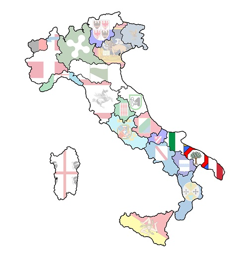 map of italy with apulia region