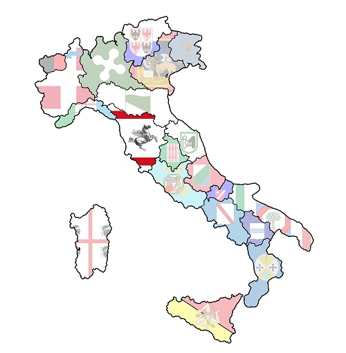 map of italy with tuscany region